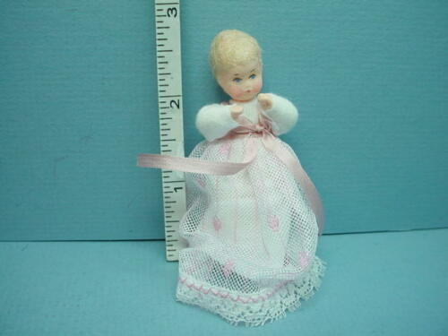 """Miniature Baby Dollhouse Doll /""""Mausele/"""" #10003 Erna Meyer 1//12th Handcrafted"""