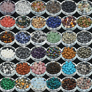 Lots-5-10-20-30-40Pcs-Gemstone-Round-Loose-Spacer-Beads-For-Jewelry-Making-DIY