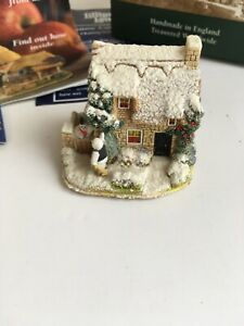 BR-Lilliput-Lane-Snow-Cottage-Collectable-Ornament-Boxed-with-deeds