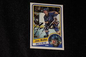 HOF-JOE-MULLEN-1984-85-O-PEE-CHEE-SIGNED-AUTOGRAPHED-CARD-188-BLUES