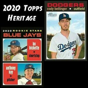 2020 Topps Heritage MLB Baseball Trading Cards Pick From List 251-500 W/Rookies
