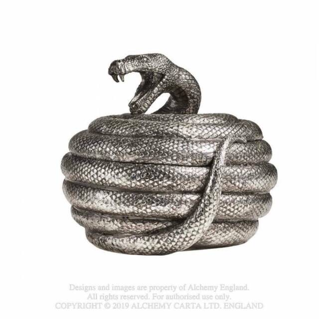 Alchemy Snake Pot Serpent/'s Hoard Ornament Grey 12x10x11cm