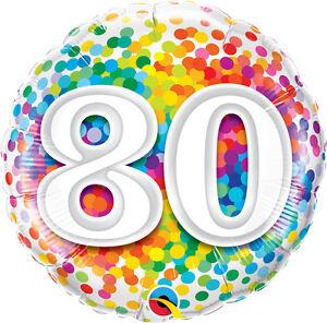 80th-BIRTHDAY-PARTY-SUPPLIES-18-034-BIRTHDAY-RAINBOW-CONFETTI-QUALATEX-BALLOON