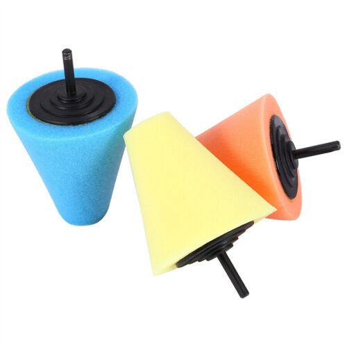 5Pc Burnishing Foam Sponge Polishing Cone Ball Buffing Pad Wheel Hub Cleaner UK