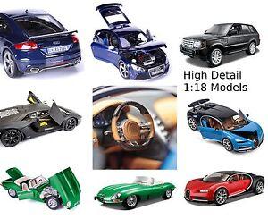 Bburago-1-18-Modelo-Cars-E-Tipo-Jag-Bugatti-Audi-Bently-Ranger-Rover