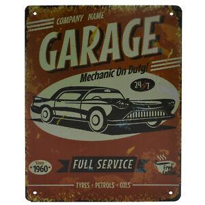 La pubblicità in lamiera SCUDO 20x30 cm Full Service Garage Officina