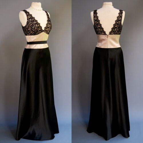 Laundry Lace Black Satin Long Formal Dress Ball Go