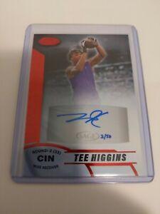Tee-Higgins-2020-Sage-Aspire-Red-AUTO-3-50-RARE-GEM-Bengals-Clemson
