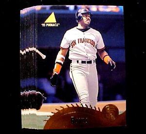 1995 Pinnacle BARRY BONDS ~ 20 CARD LOT ~ SAN FRANCISCO GIANTS ~ MOST HOMERUNS