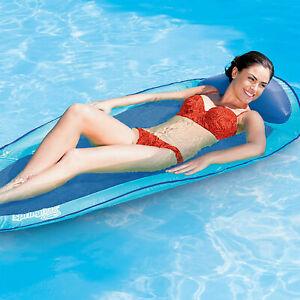 Pool Water Hammock Inflatable Swimming Lake Raft Floating Chair Net ...