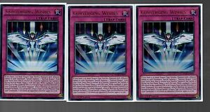 3X YU-GI-OH CARD DUSA-EN037-1ST EDITION CONVERGING WISHES ULTRA RARE