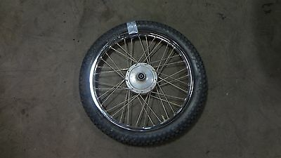 "1973 kawasaki G5 100cc enduro k462~ front wheel rim 19"""
