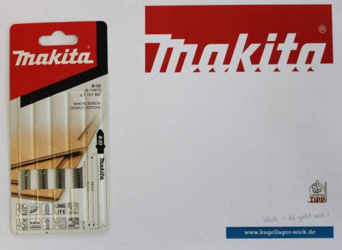 5 Stück Stichsägeblätter Makita B-10970 B-53 T101 BIF NEU ORIGINAL Laminat Holz