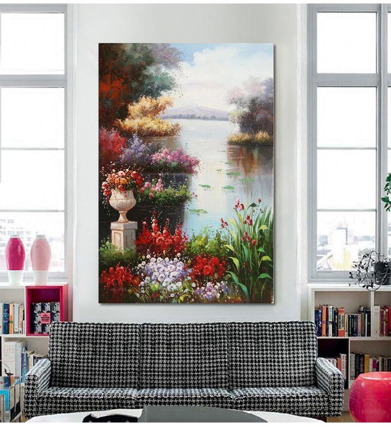 3D Park Flüsse Farbe Blumen 945 Fototapeten Wandbild BildTapete AJSTORE DE Lemon