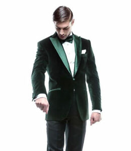 Christmas Party Suit Men.Details About Men Green Velvet Blazer Smoking Jacket Designer Christmas Party Wear Dinner Coat