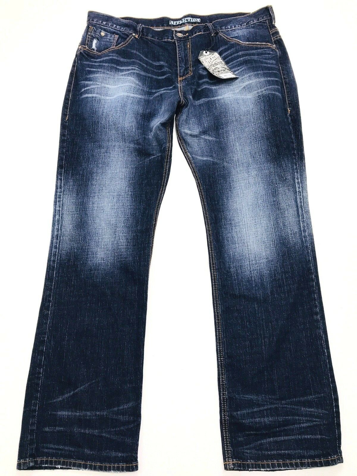Affliction Mens 42x36 Ace Ascended Tacoma Standard Series Distressed Jeans (424)