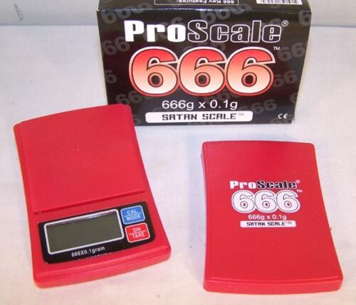 SATAN SCALE 666 coin weighing devil gram digital pocket postal weighing scales