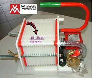 Pompa con filtro enologico colombo 18 per filtrare vino 36 for Pompa x laghetto con filtro