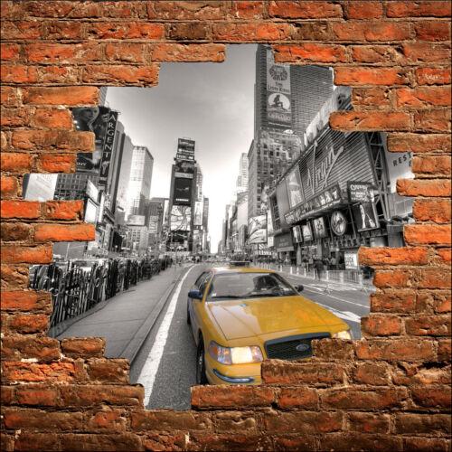Sticker mural trompe l/'oeil New York taxi réf 815
