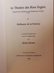 PERRIERE-Le-Theatre-des-Bons-Engins-1539-Facsimile-1964-Hardcover