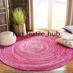 Braided Cotton Floor Rug Handmade