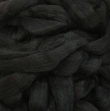 Alpaca Fiber Roving Top, Black Alpaca, Superfine, 100 grams, Spinning