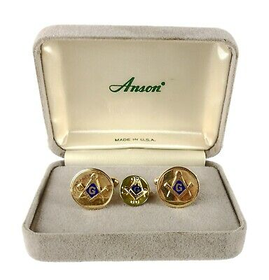ANSON Vintage Masonic Cuff Links Item K # 1410