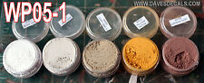 WPS05-1 DAVE'S WEATHERING POWDERS ALL NATURAL EARTH PIGMENT 5 COLOR SET 1