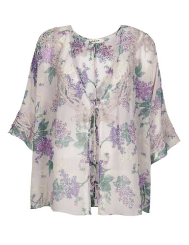 Fa M ou S High Street Store Women/'s Floral Cover-Up Kimono Top RRP £39.50