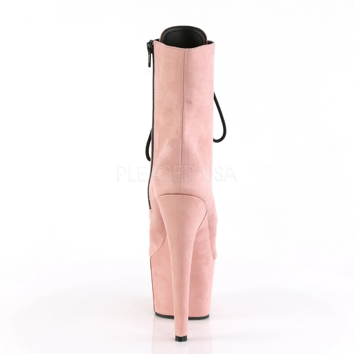 Pleaser Adore    1020FS 7 Heel Platform Bebé Rosa Imitación Gamuza Botas al tobillo con Cordones 5f430f