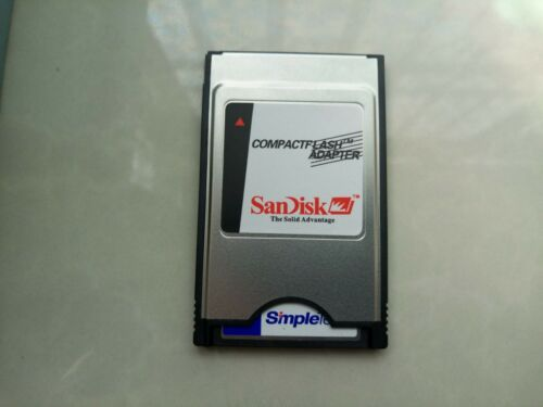 ATA PC card PCMCIA Adapter JANOME Machines Simpletech  128MB Compact Flash