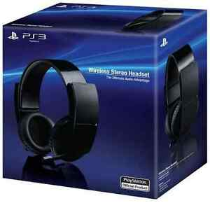 sony wireless stereo 7 1 sourround playstation 3 headset. Black Bedroom Furniture Sets. Home Design Ideas