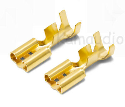Vanguard 5U Gold Plated 4.8mm Crimp Terminal Female Spade Speaker Connectors