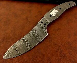 Handmade Damascus Steel Tanto Style Blank Blade-Knife Making-Messer B19