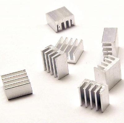 100Pcs Aluminum 8.8x8.8x5MM Heat Sink for StepStick A4988 Chip IC LED Power IC