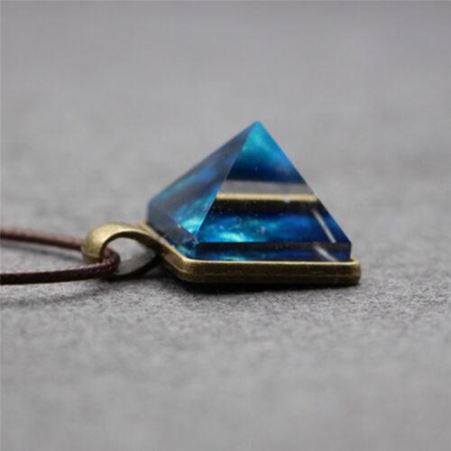Pyramid Natural Luminous Beauty Pendant Fantasy Luminous Star Necklace Cool STUK