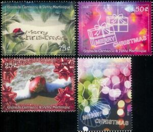 Grenadines-of-Grenada-2000-Christmas-Greetings-Bauble-Presents-4v-set-n19371a