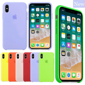 Genuine-Original-Case-For-iPhone-X-XS-Max-XR-7-6-8-6S-Plus-Silicone-Hard-Cover