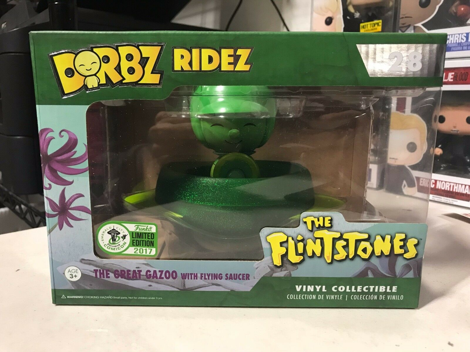 FUNKO DORBZ RIDEZ THE GREAT GAZOO FLINTSTONES 2017 ECCC COMIC CON EXCLUSIVE