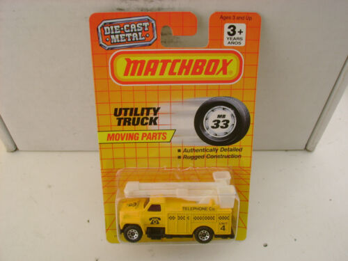 NEW ON CARD 1990 MATCHBOX SUPERFAST MB 33 UTILITY TRUCK TELEPHONE CO