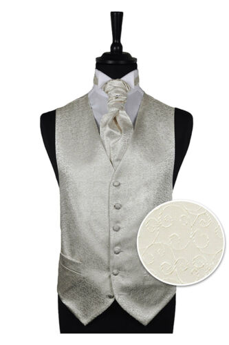 Men/'s Wedding Formal Pure White Scroll Waistcoat Brand New  Wedding Vest Tux
