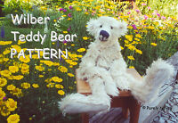 "Mohair/Plush ""Wilber"" Teddy Bear PATTERN by Neysa A. Phillippi of Purely Neysa"