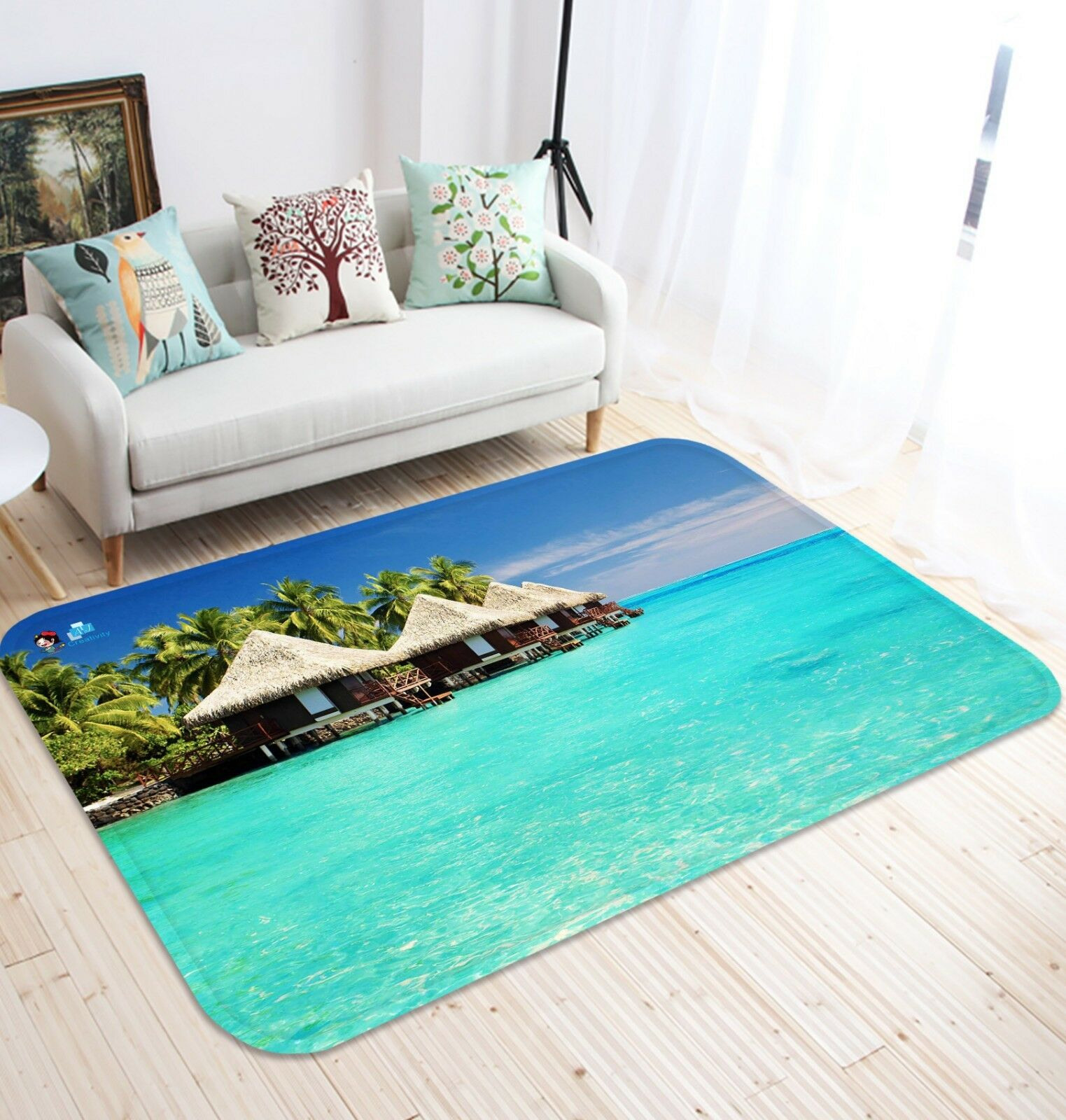 3d BLU PISCINA 136 non-slip CARPET MAT quality elegante Carpet de Summer