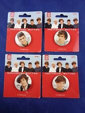 1D Harry Styles Button Badge Pin Set - Music & Gift - One Direction, Lot of 4