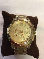 Jennifer Lopez JLO Yellow Gold Watch Chronograph Dial Stainless Steel Quartz