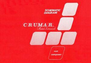 CRUMAR Composer Service Manual repair - Schematic Diagrams - Schaltplan - Schema