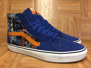 43bb6d1f233cb2 RARE🔥 VANS Sk8-Hi True Blue Inca Tribal Suede Sz 13 Men s Shoes ...