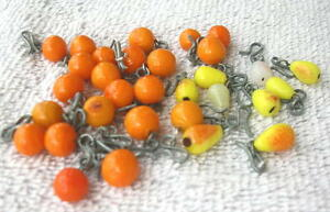 1920's LOT OF 30 Hand Made Czechoslovakia Glass fruit Charms new old stock