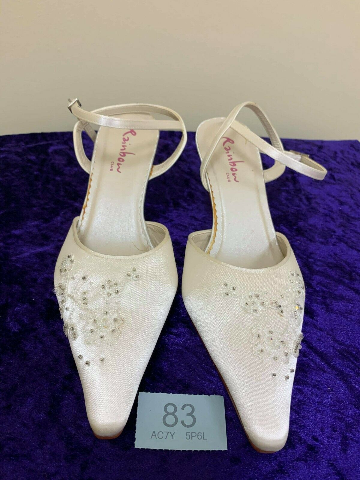 New in box Rainbow Club ivory shoes size 4 Style Florence Code 83