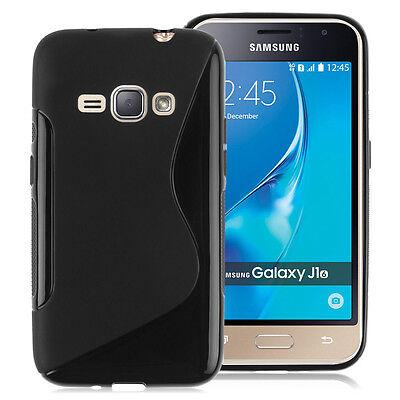 Housse Etui Coque TPU Silicone Gel S-Line NOIR Samsung Galaxy J1 (2016) J120F